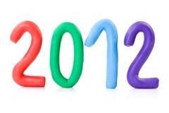 Año 2012 de la demostración de los números del Plasticine Foto de archivo libre de regalías