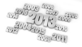 Año 2013 Foto de archivo libre de regalías