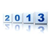 Año 2013 en cubos Foto de archivo libre de regalías