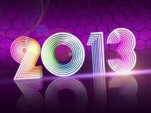 Año 2013 en figuras brillantes coloreadas Fotos de archivo libres de regalías