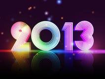 Año 2013 en figuras coloreadas Foto de archivo