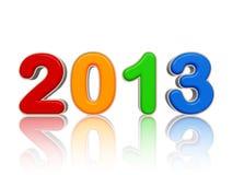 Año 2013 en figuras coloreadas Fotografía de archivo libre de regalías