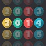 Año 2014 ilustración del vector