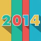 Año 2014 stock de ilustración