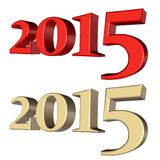 Año 2015 Foto de archivo libre de regalías