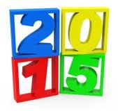 Año 2015 Imagen de archivo libre de regalías
