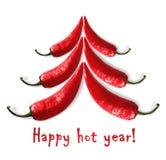 Año caliente feliz Fotografía de archivo
