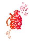 Año chino de mono stock de ilustración