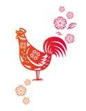 Año chino de pollo del gallo ilustración del vector