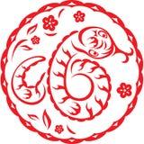 Año chino de serpiente stock de ilustración