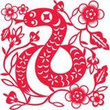 Año chino de serpiente libre illustration