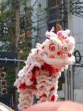 Año chino feliz de la demostración del león Imagen de archivo