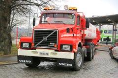 Año clásico 1988 del camión del tanque de Volvo N12 Foto de archivo