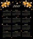 Año completo de 2011 calendarios Ilustración del Vector