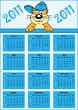 Año completo del calendario 2011 Libre Illustration