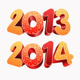 Año 2013 2014 3D Imagenes de archivo