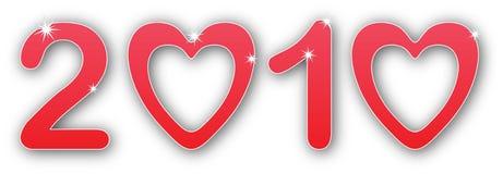 Año de 2010 amores Fotos de archivo