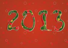Año de 2013 chinos de serpiente Imágenes de archivo libres de regalías