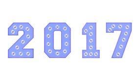 Año de 2017 Imagen de archivo libre de regalías