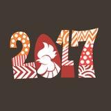 Año de gallo Imágenes de archivo libres de regalías