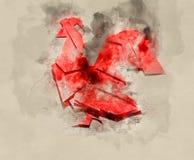 Año de gallo ardiente Foto de archivo