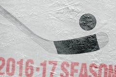 Año de la estación de hockey 2016-2017 Imagen de archivo libre de regalías