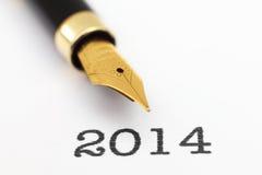 Año de la pluma 2014 Fotos de archivo libres de regalías