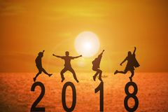 año de 2018 noticias Fotografía de archivo