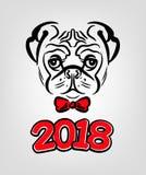 Año del barro amasado del perro ilustración del vector