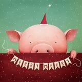 Año del cerdo stock de ilustración