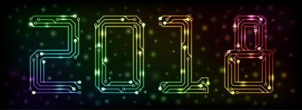 Año 2018 del circuito Imagen de archivo