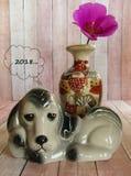 Año del concepto del perro Imágenes de archivo libres de regalías