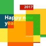 Año 2017 del fondo de la Feliz Año Nuevo de gallo EPS Imagen de archivo