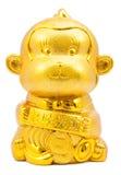 Año del mono de oro del mono Foto de archivo libre de regalías