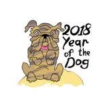 Año del perro 2018 Imágenes de archivo libres de regalías