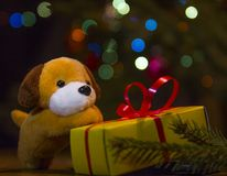 2018 - año del perro amarillo fotografía de archivo libre de regalías