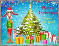 Año del perro Tarjeta 2018 de la Feliz Año Nuevo Fotos de archivo libres de regalías