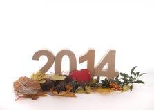 Año en números Fotos de archivo libres de regalías