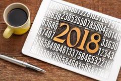 Año 2018 en tipo de la prensa de copiar Imagen de archivo libre de regalías