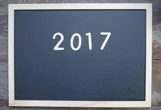 Año 2017 en una pizarra Fotos de archivo libres de regalías