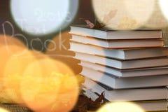 Año escolar de las hojas de los libros de texto Fotografía de archivo