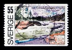Año europeo de la protección de naturaleza, serie, circa 1970 Foto de archivo libre de regalías