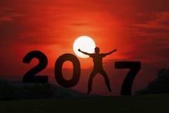 Año feliz 2017 de las noticias Foto de archivo