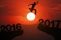 Año feliz 2017 de las noticias Imagen de archivo