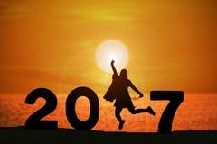 Año feliz 2017 de las noticias Fotografía de archivo