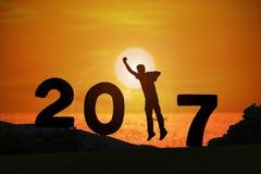 Año feliz 2017 de las noticias Foto de archivo libre de regalías