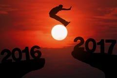 Año feliz 2017 de las noticias Fotos de archivo
