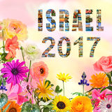 Año floreciente de Israel New Fotografía de archivo