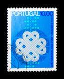 Año internacional de la comunicación, serie, circa 1983 Imagen de archivo