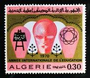 Año internacional de la educación, serie, circa 1970 Fotografía de archivo